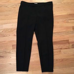H&M black cropped dress pants size 14
